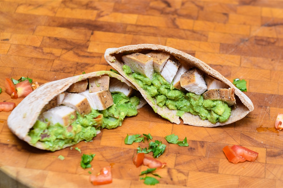 Smoked Chicken Guacamole Pita